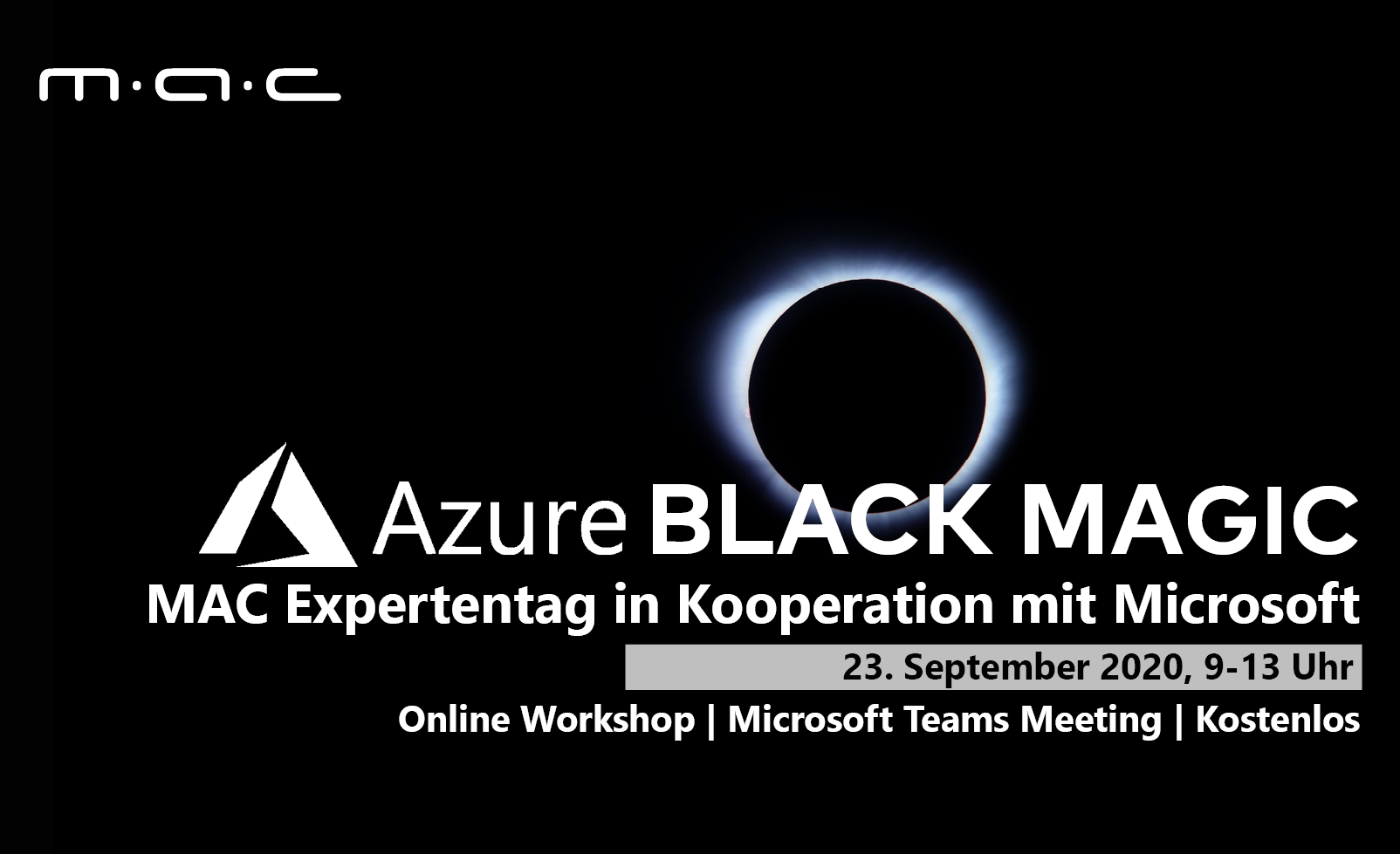 "Online-Seminar ""Azure Black Magic"" geht in die zweite Runde."